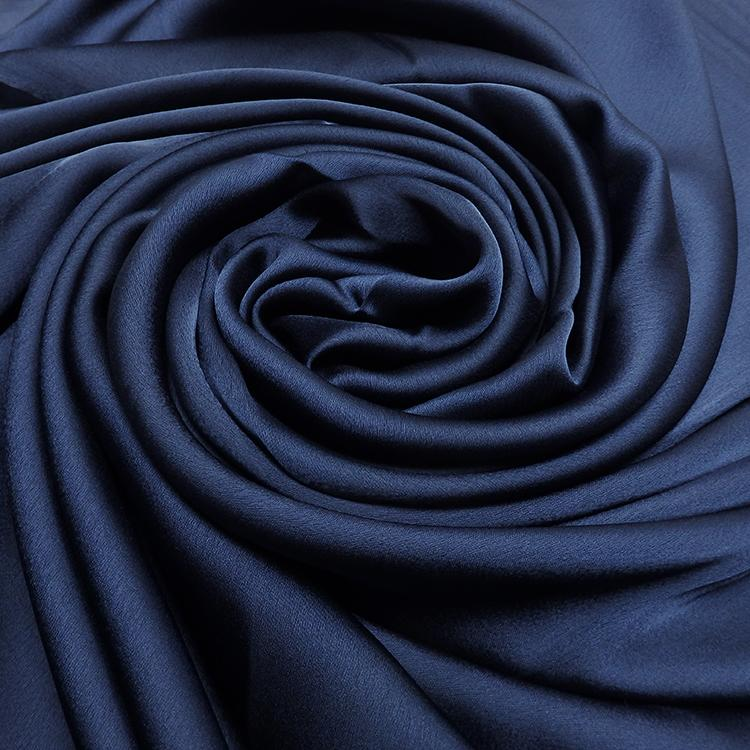 navy satin silk hijab