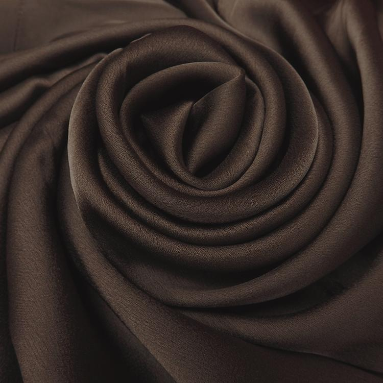 dark chocolate satin silk hijab