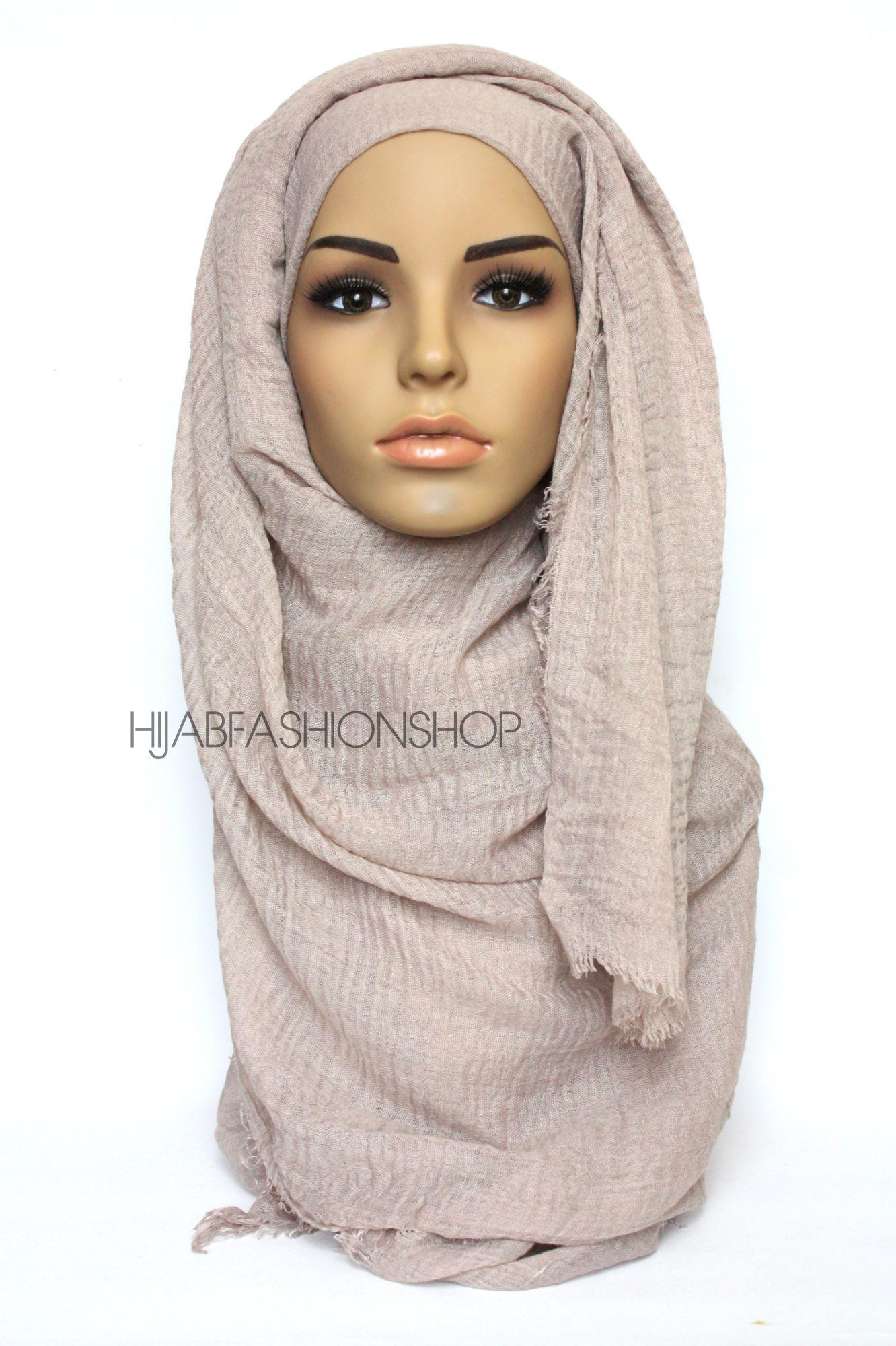 latte crimp crinkle hijab