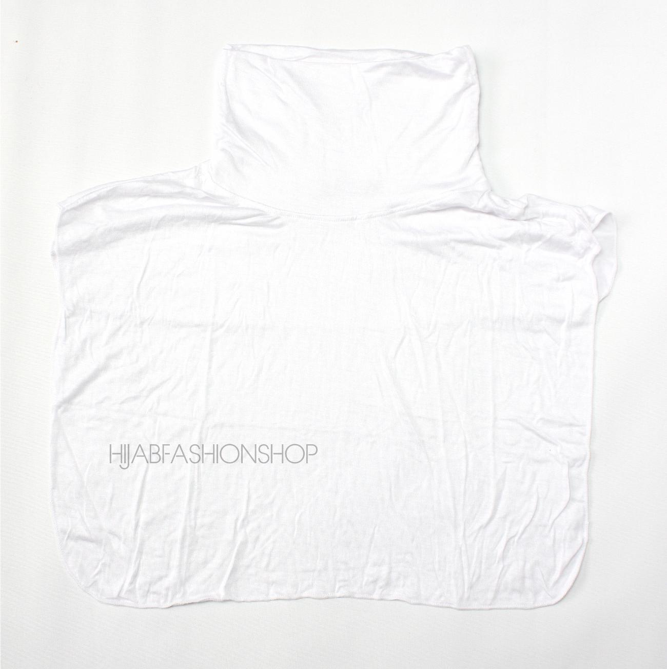 white full neck cover