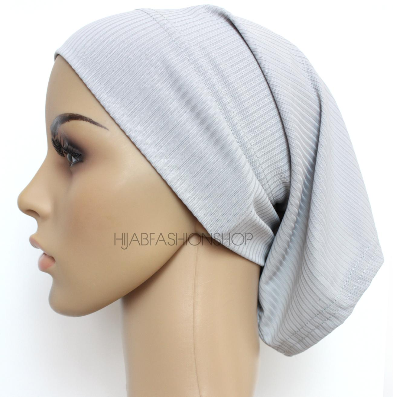 light grey ribbed tube underscarf