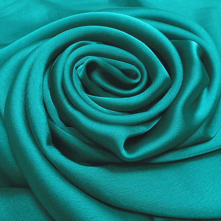 teal sating silk hijab