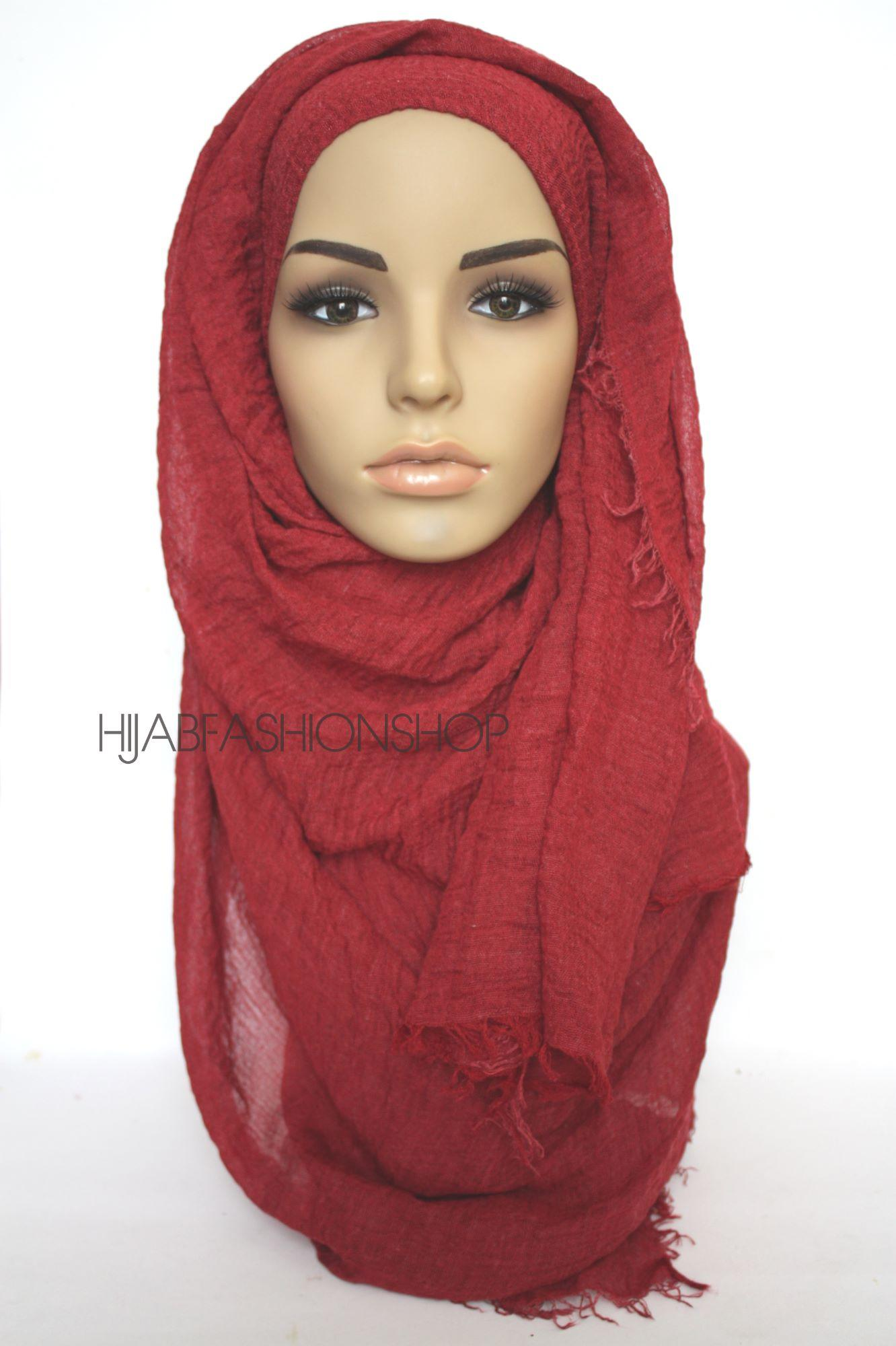 pomegranate crimp crinkle hijab