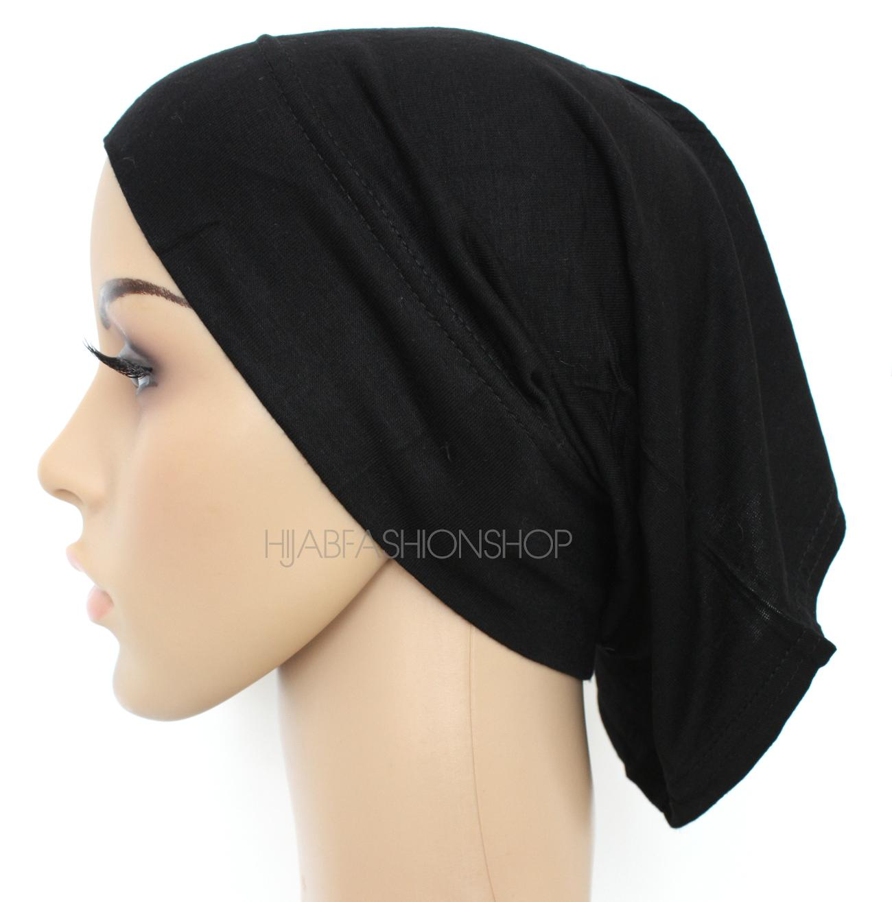 black tube hijab cap