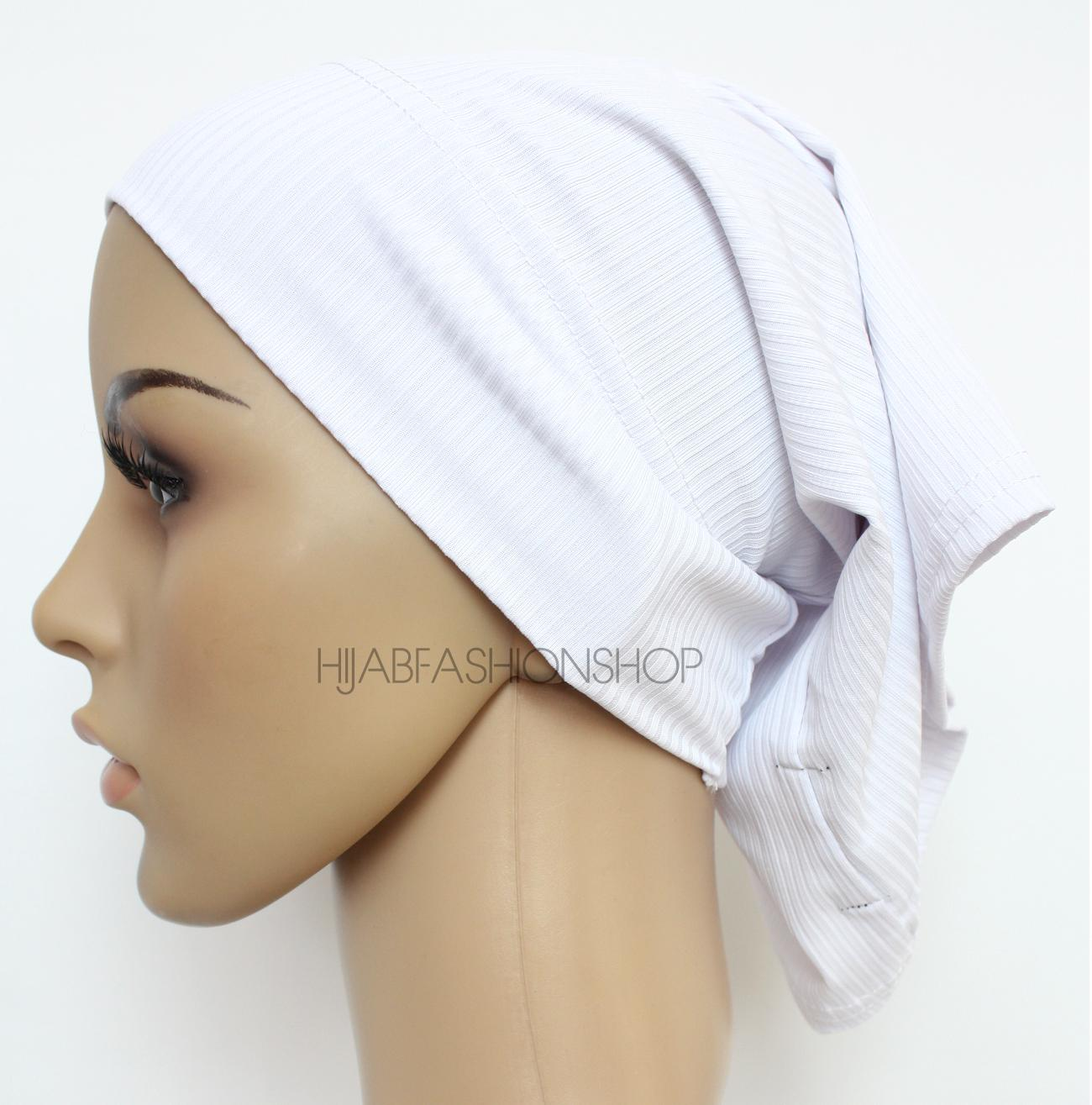 white ribbed tube underscarf