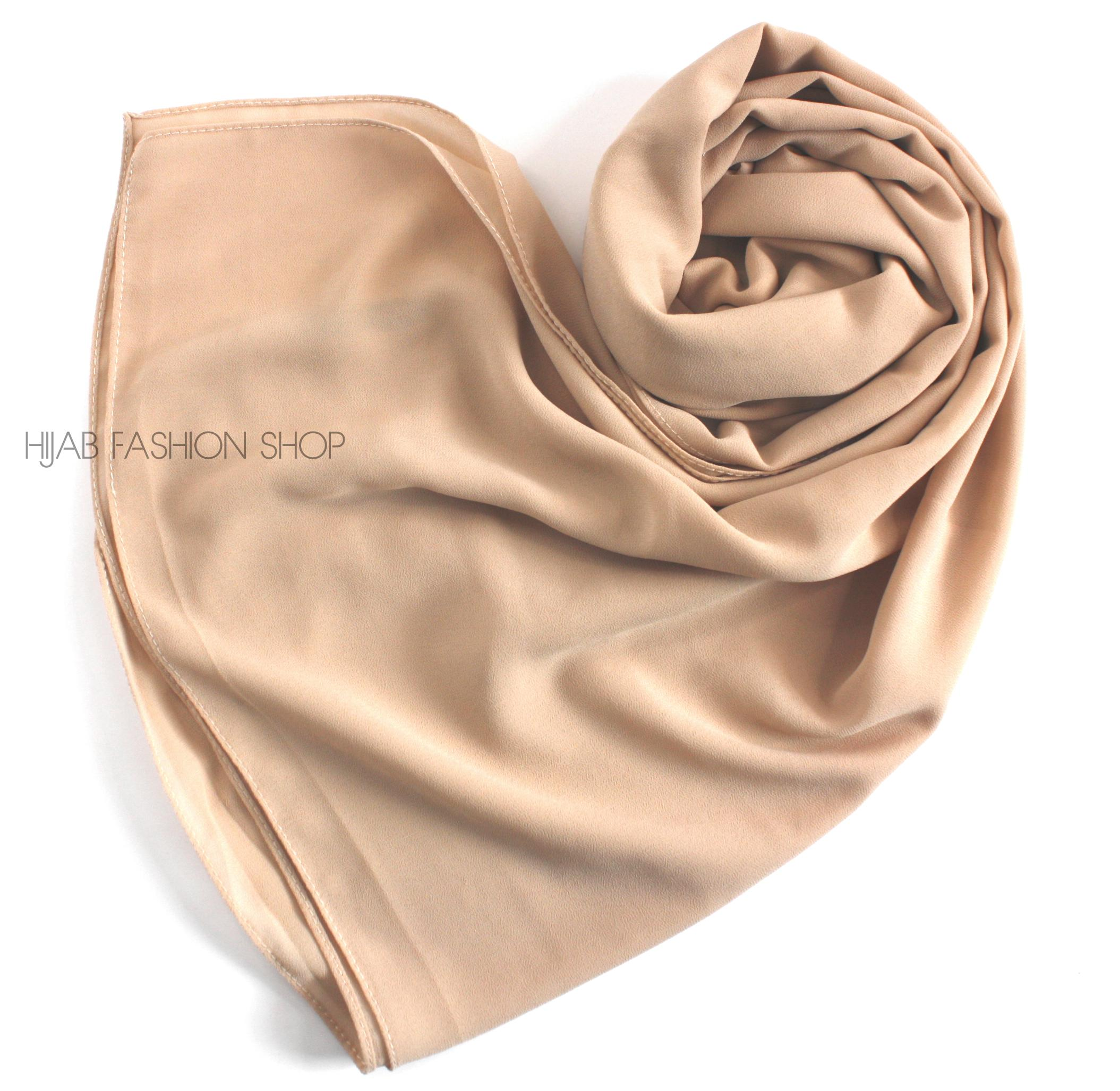 light beige chiffon hijab