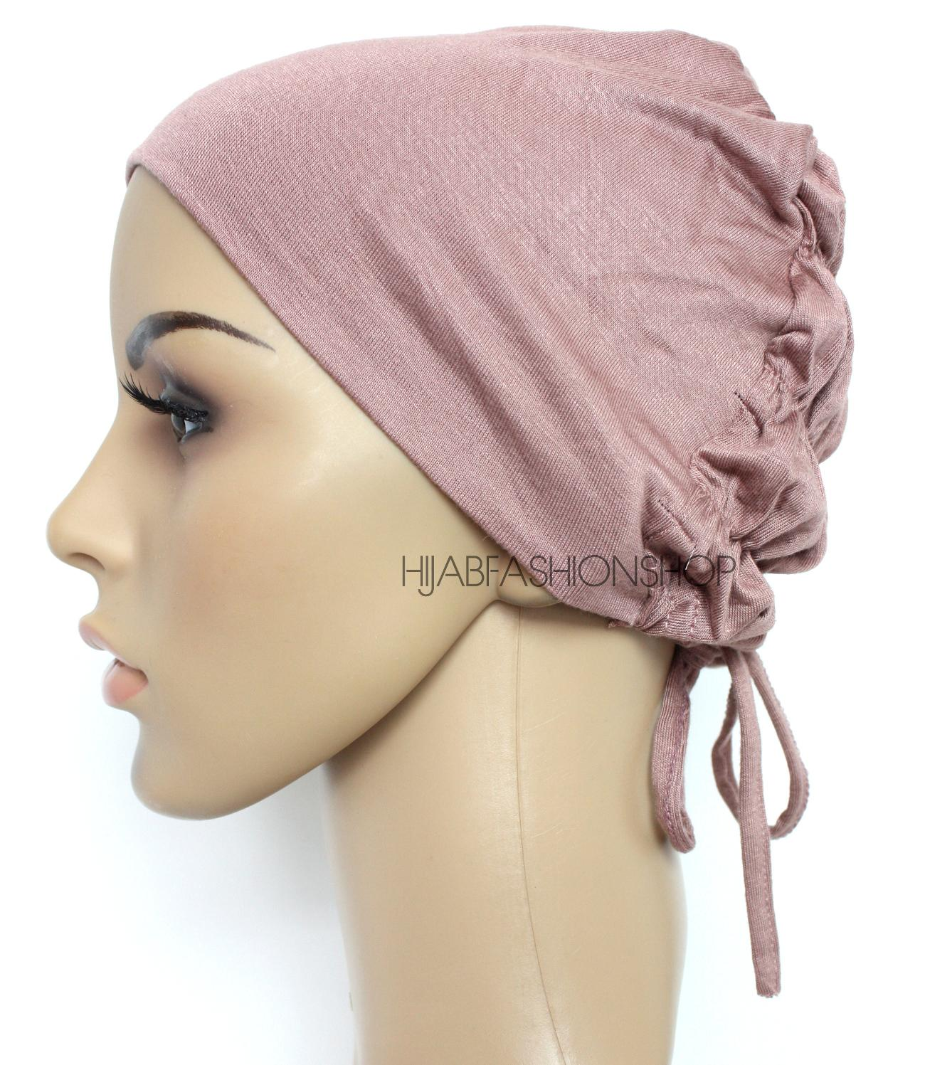 nude rose ruched back string bonnet