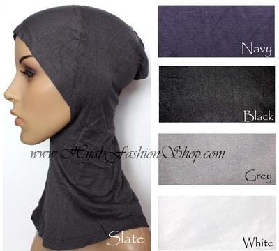 slate full hijab underscarf and colour swatch
