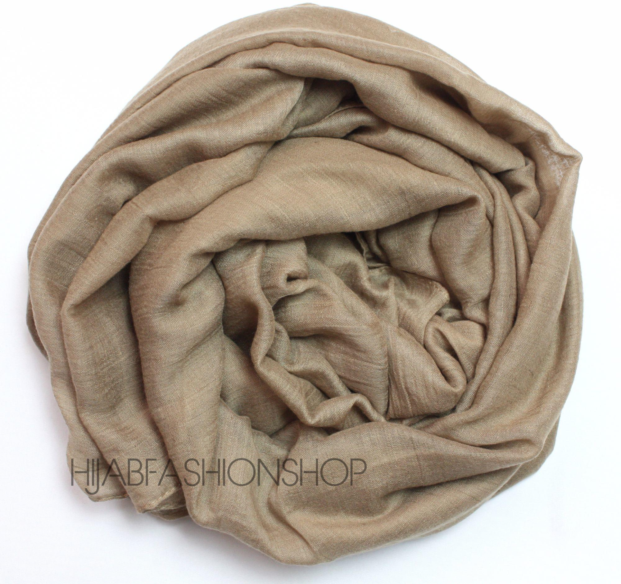 latte plain viscose hijab