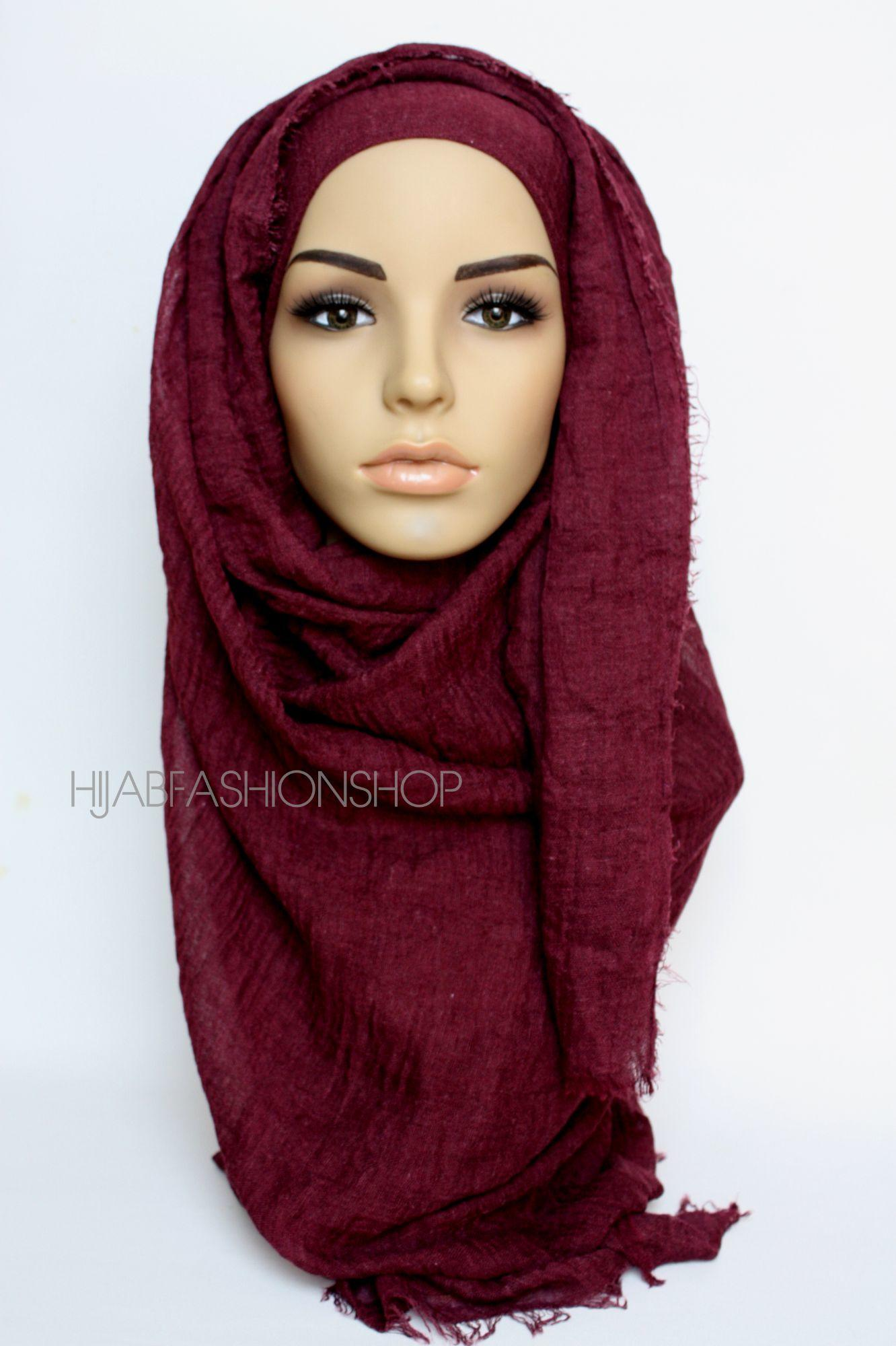 mulberry crimp crinkle hijab