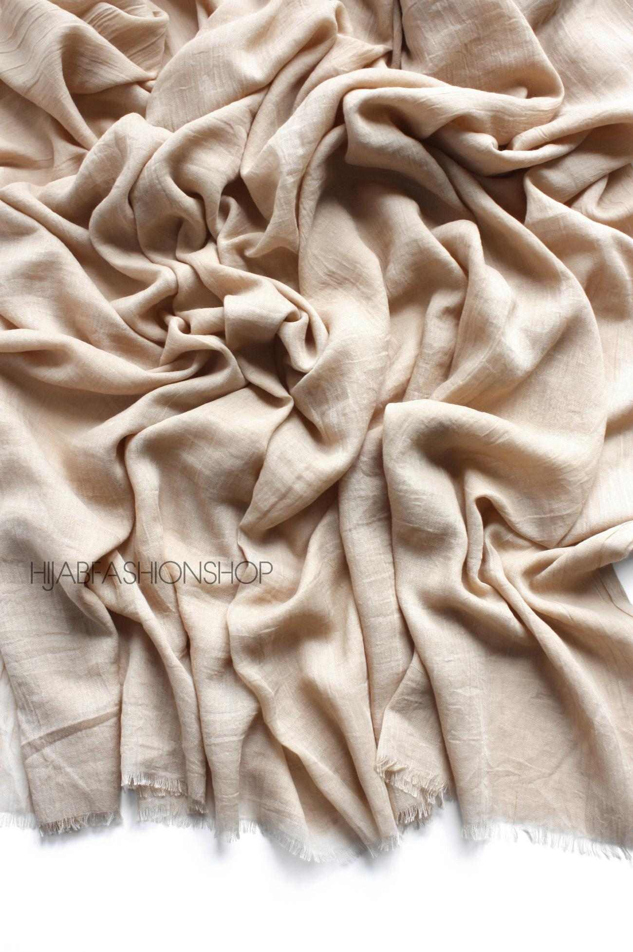 Light nude premium cotton hijab