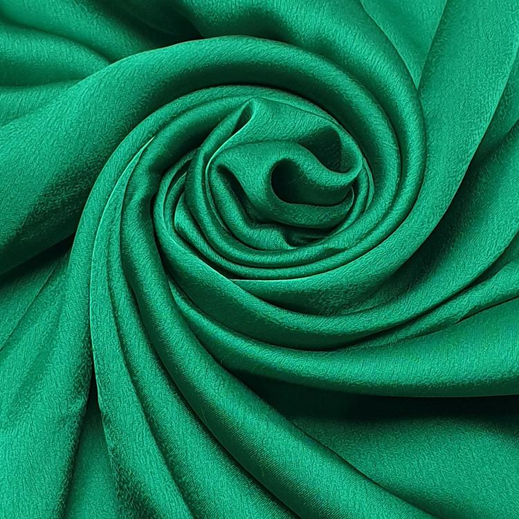 green satin silk hijab