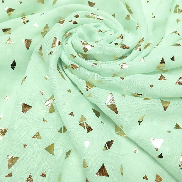 mint gold triangle print hijab
