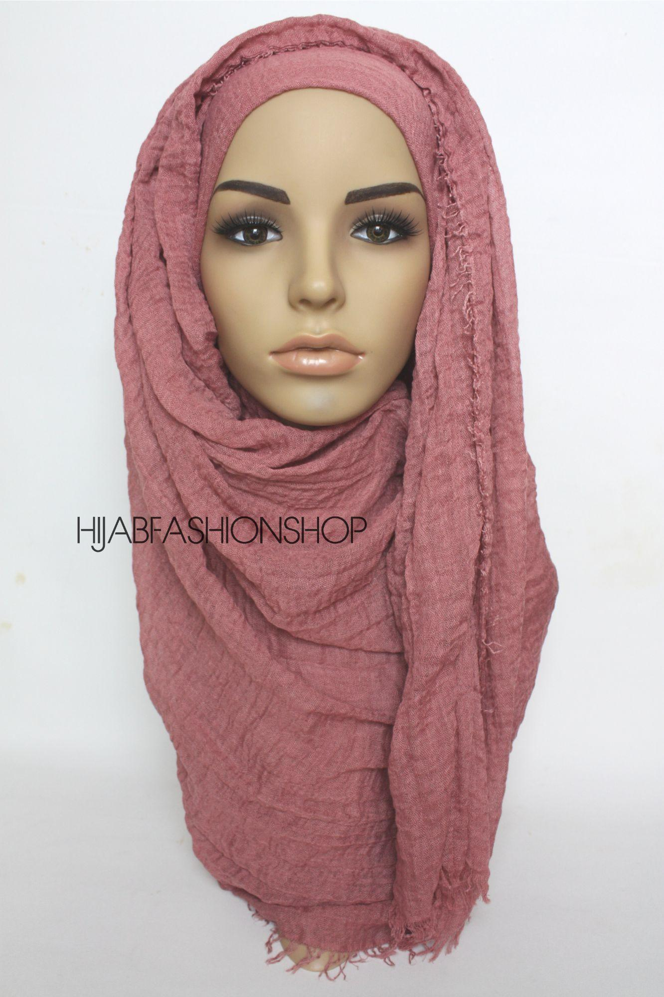 red brick crimp crinkle hijab