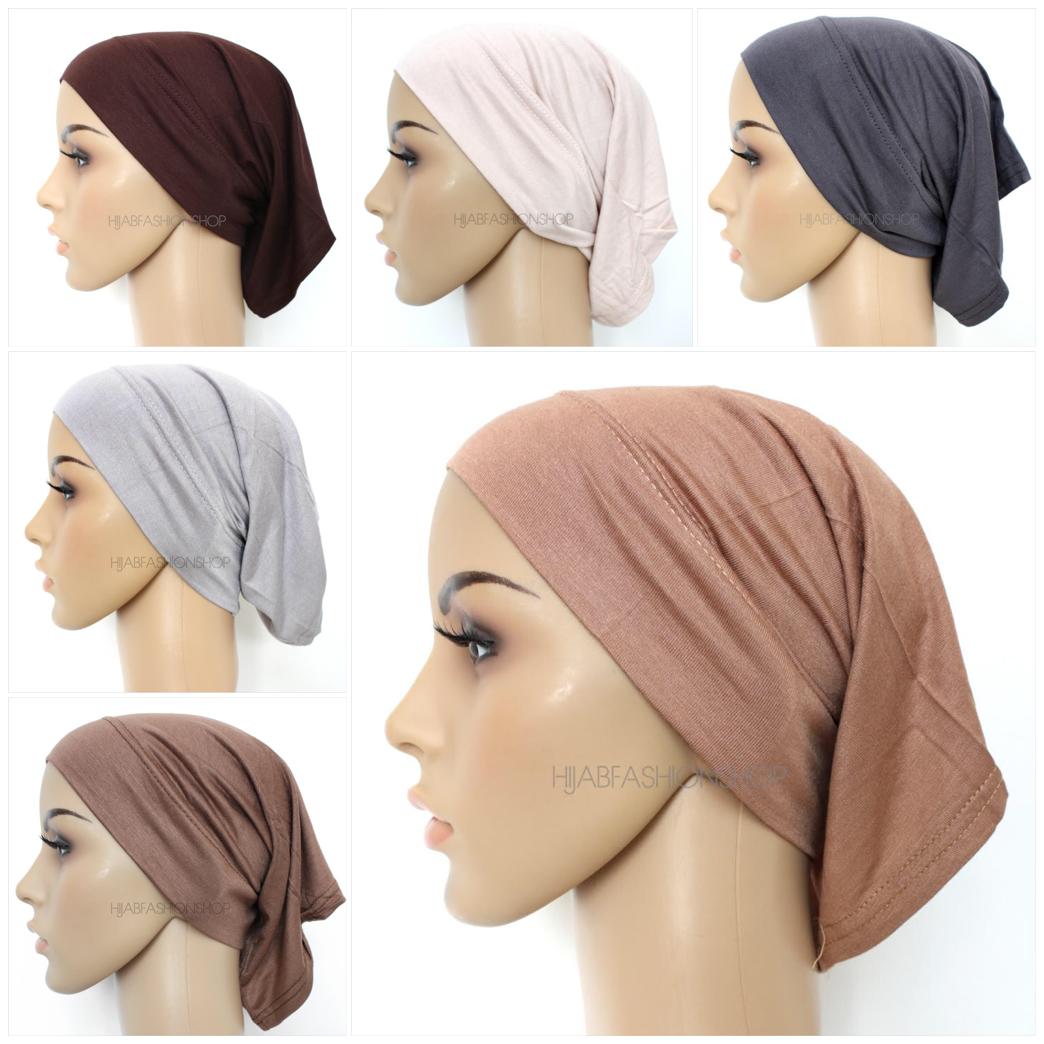 five tube hijab caps