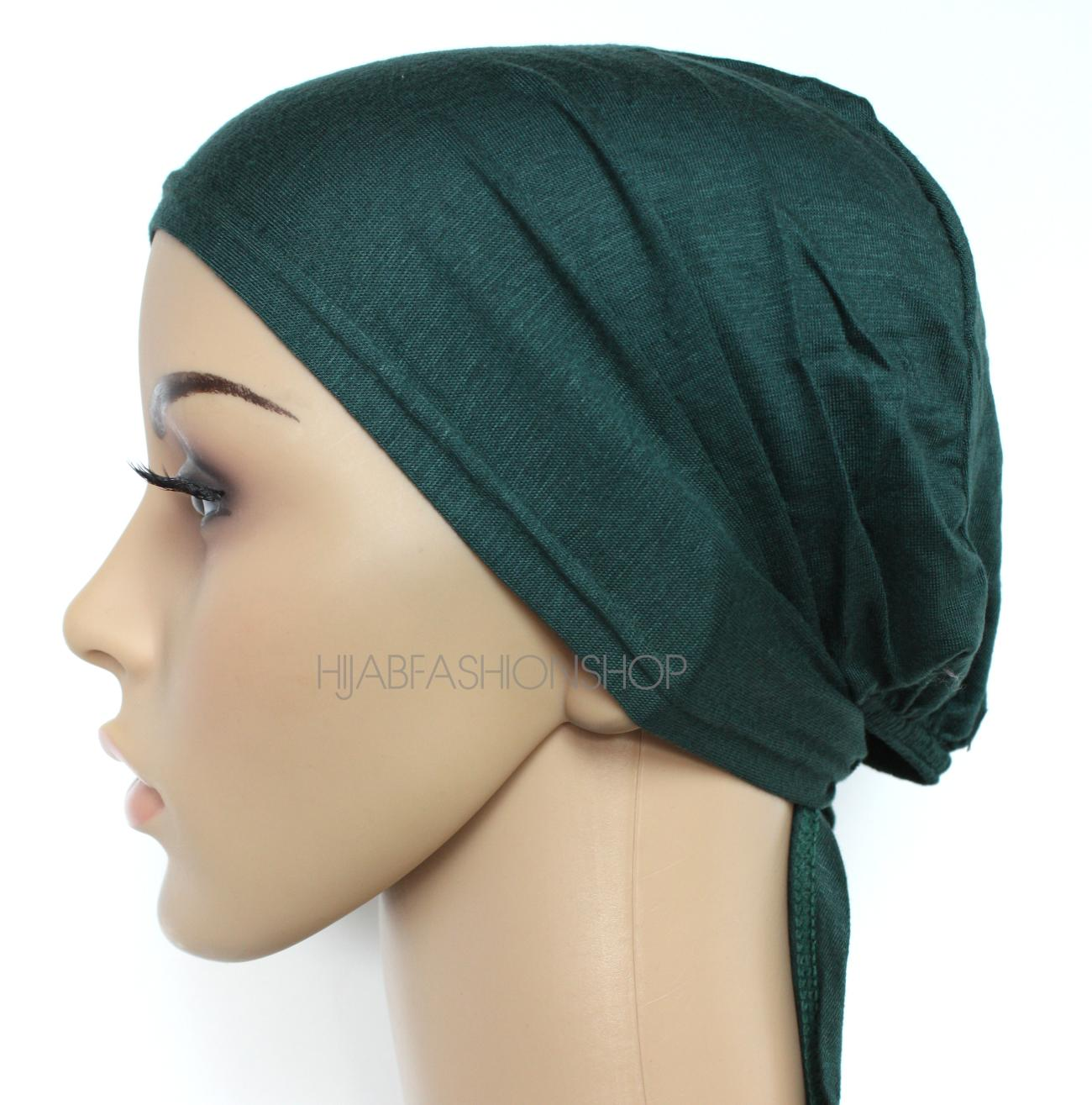 dark green string bonnet