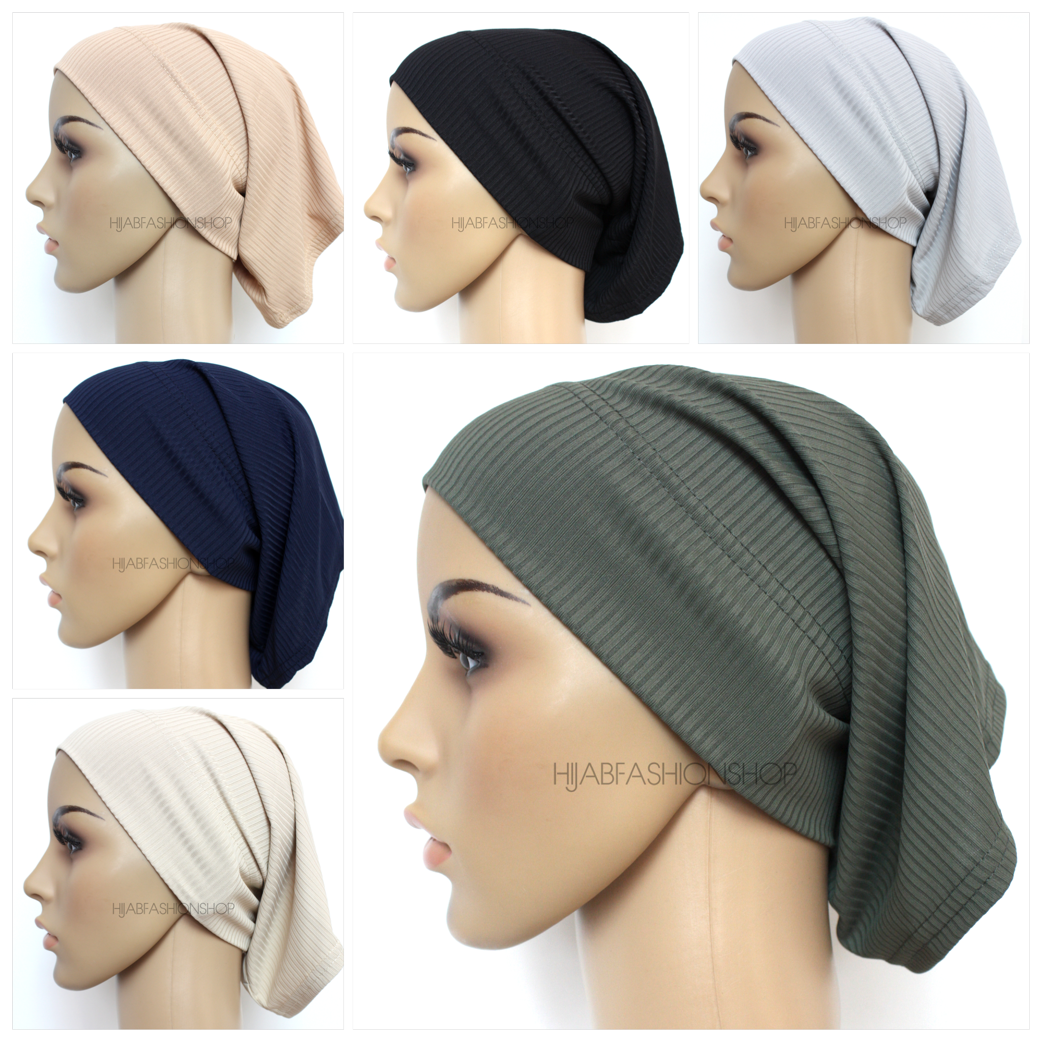 6 ribbed tube underscarves