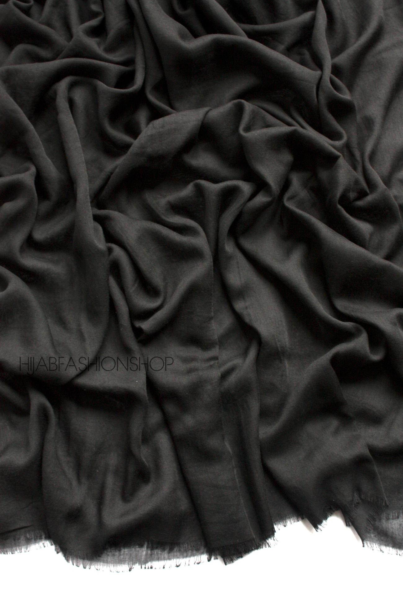 black premium cotton hijab