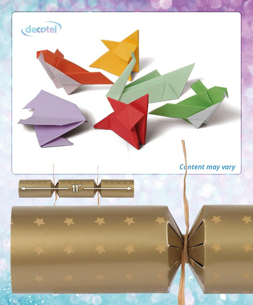 eco origami gold christmas cracker contents