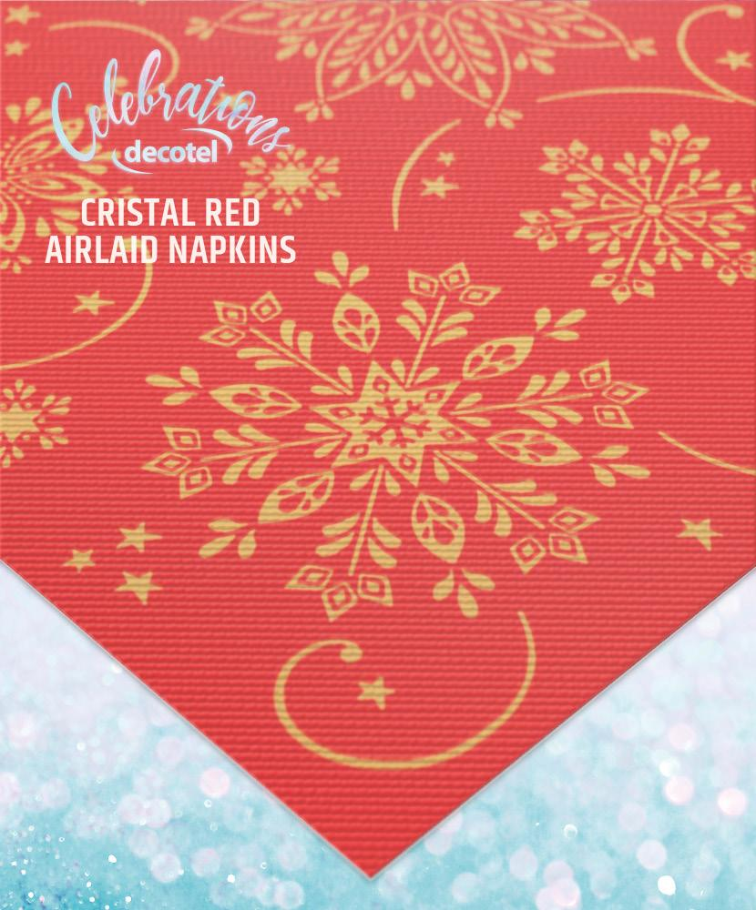 cristal red airlaid napkins