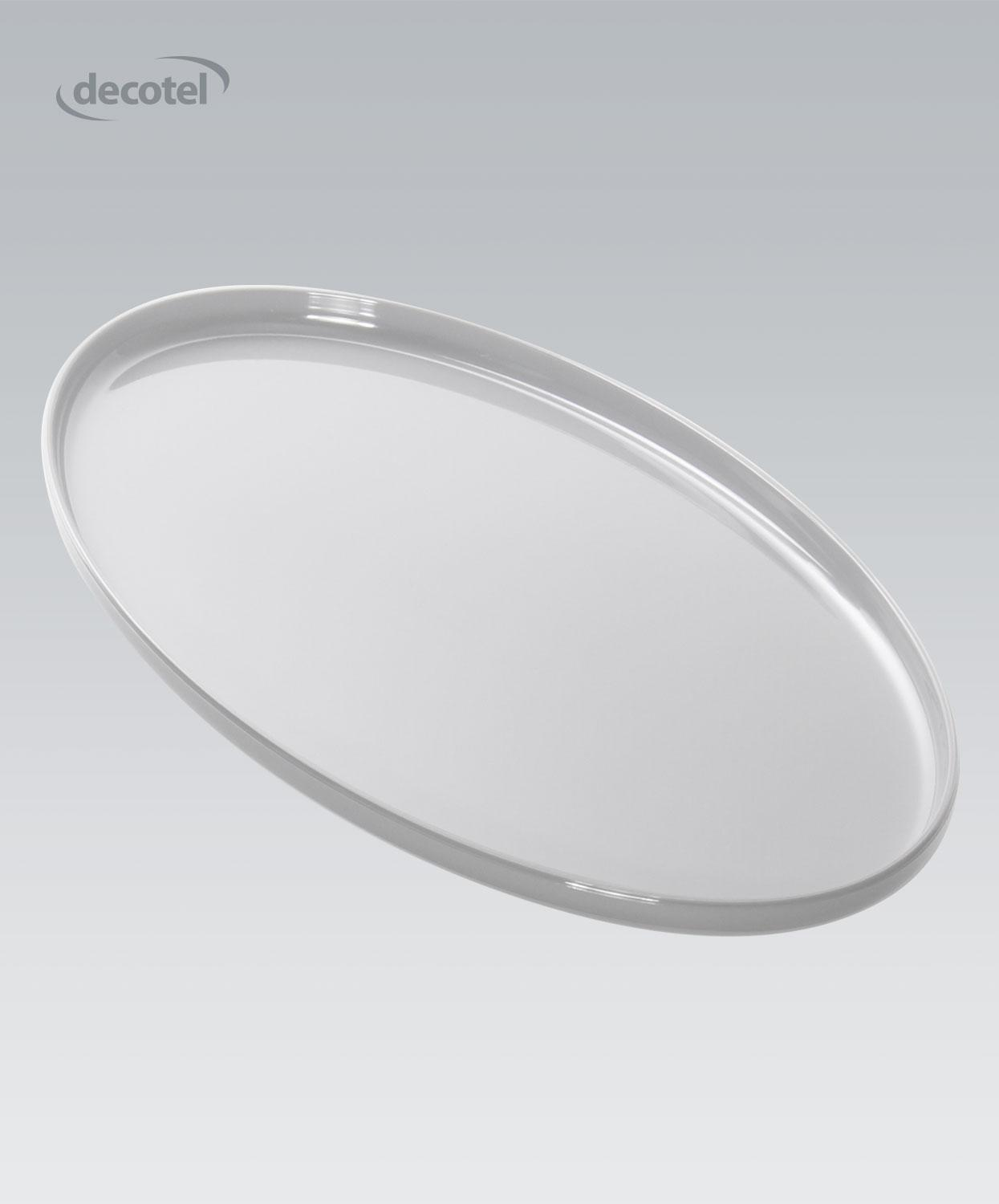 Viscount Small Oval Tray White