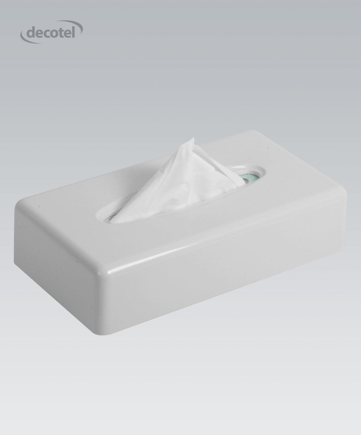Flat Tissue Box Dispenser Gloss White