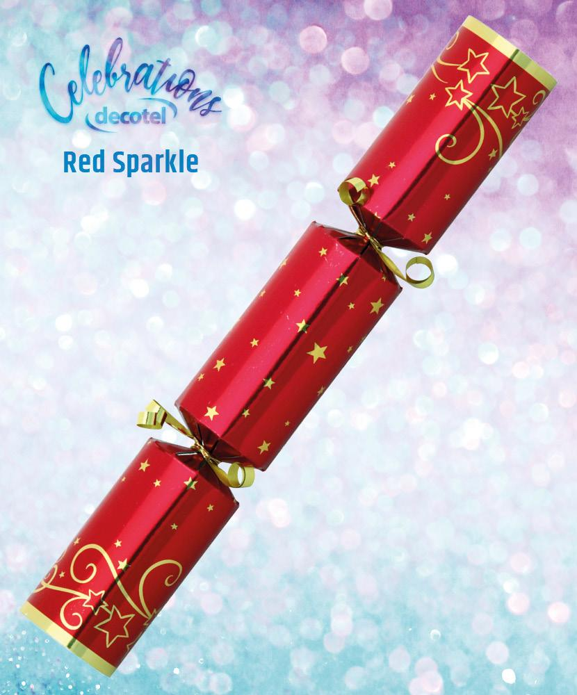 red sparkle christmas cracker