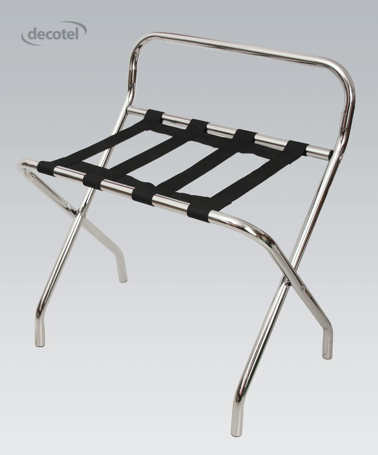 Chrome Finish Luggage Stand
