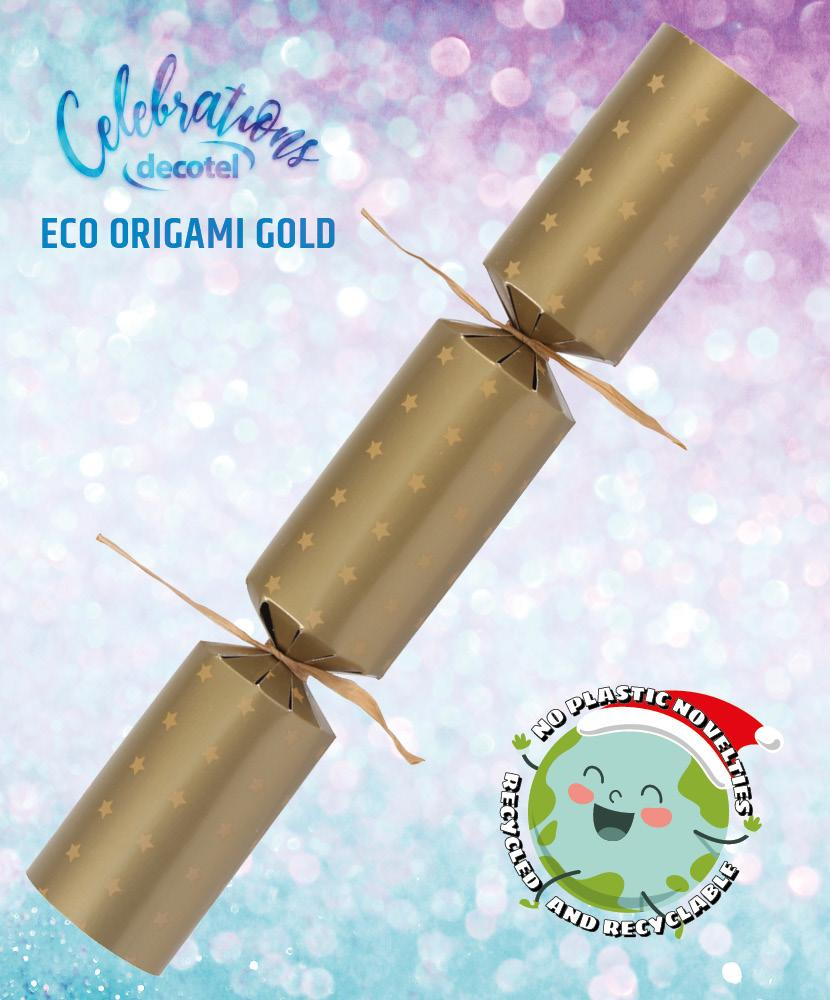 eco origami gold christmas cracker