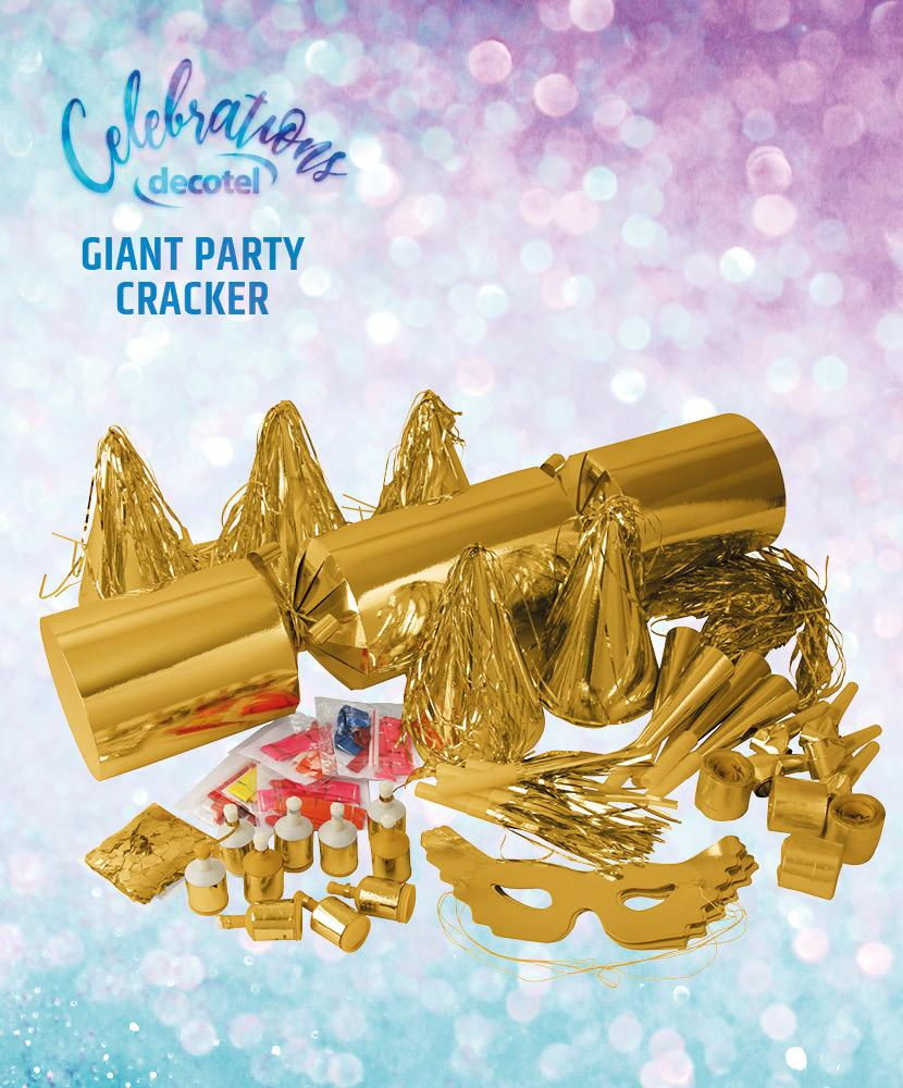 gold giant party cracker contents