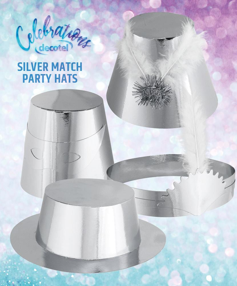 silver match party hats 2