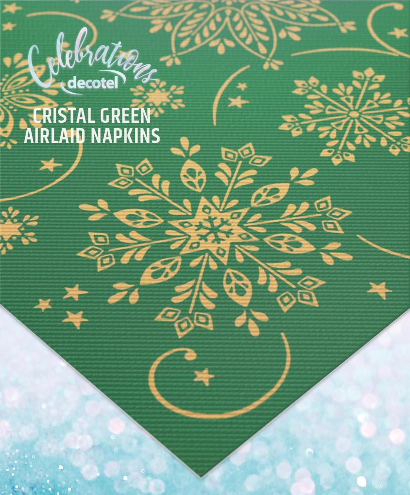 cristal green airlaid napkins