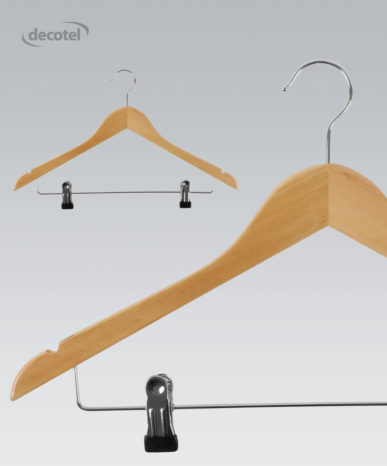 Light Maple Hanger with Skirt Clips