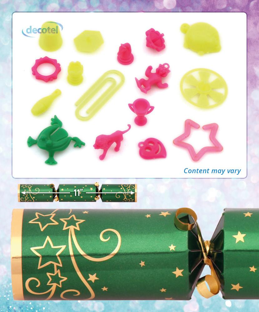 green sparkle christmas cracker contents