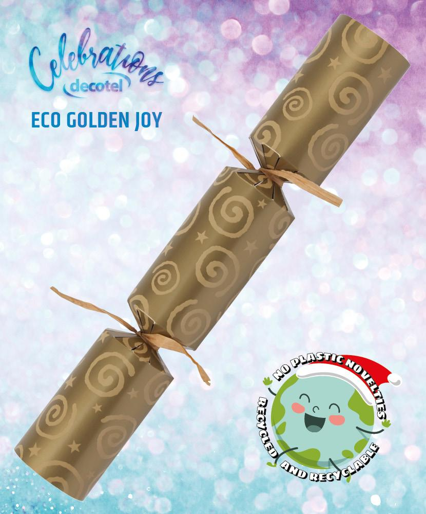 eco golden joy christmas cracker