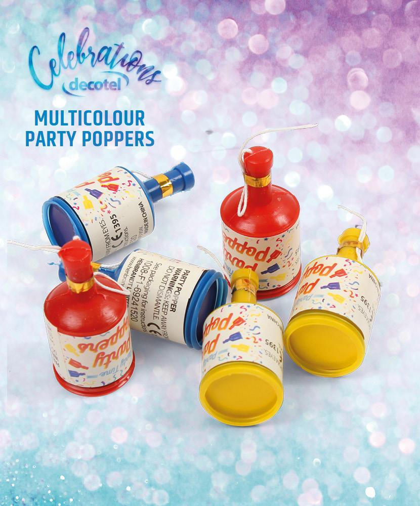 multicolour party poppers