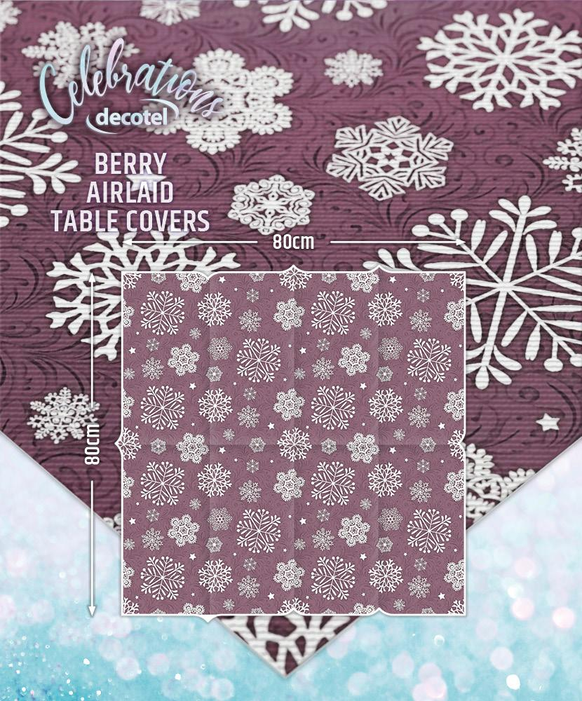 berry airlaid table covers size