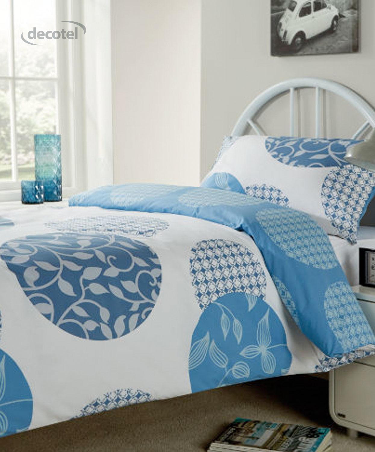 Woodland pillow cases in blue