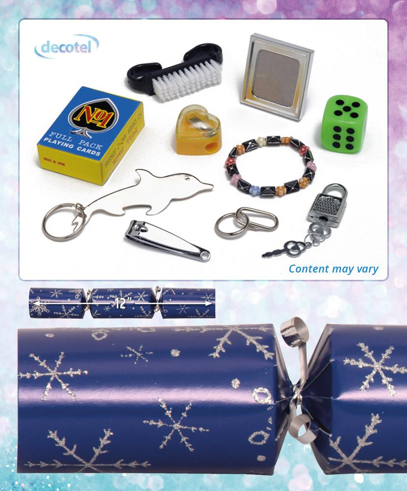 blue snowflake christmas cracker contents