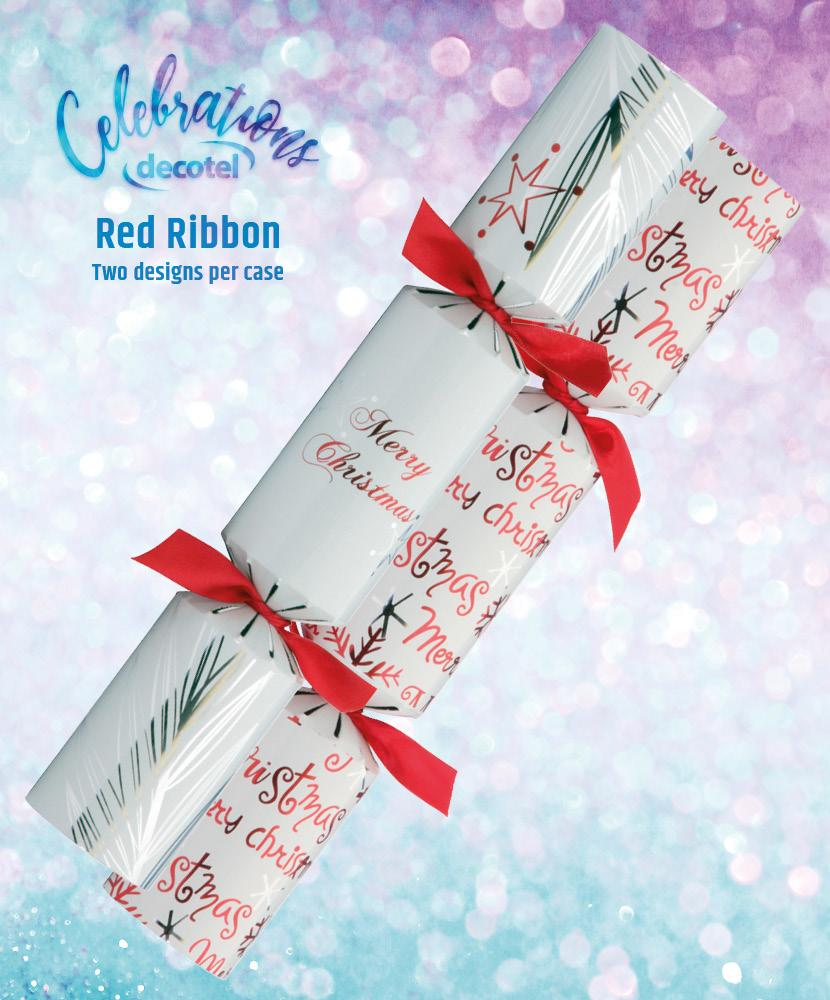 red ribbon christmas cracker