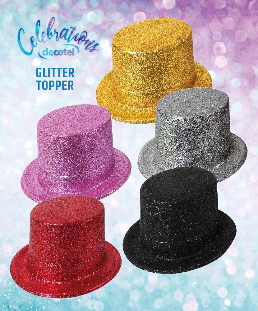 Glitter Top Hats for festive fun or just dressing up