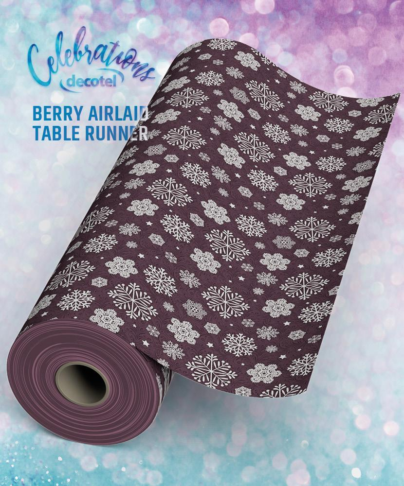 berry airlaid table runner