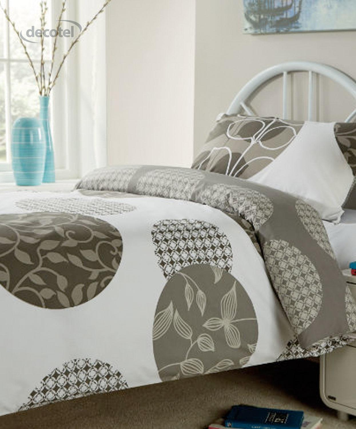 Woodland pillow cases in grey