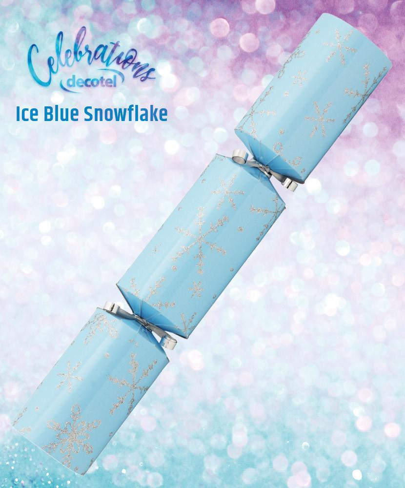 ice blue snowflake christmas cracker