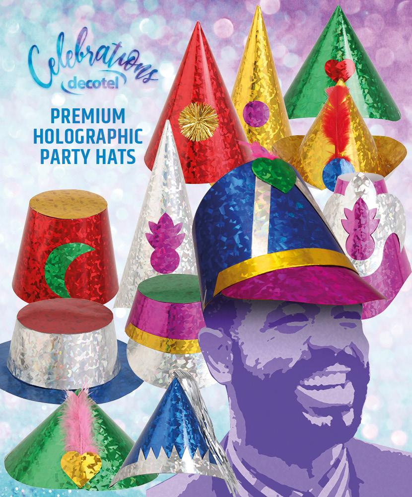 premium holographic party hats 1