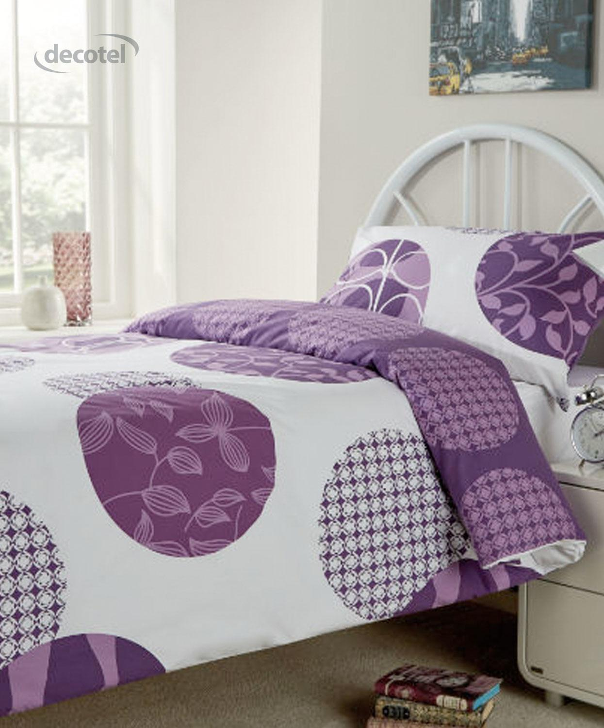 Woodland Duvet Cover in purple