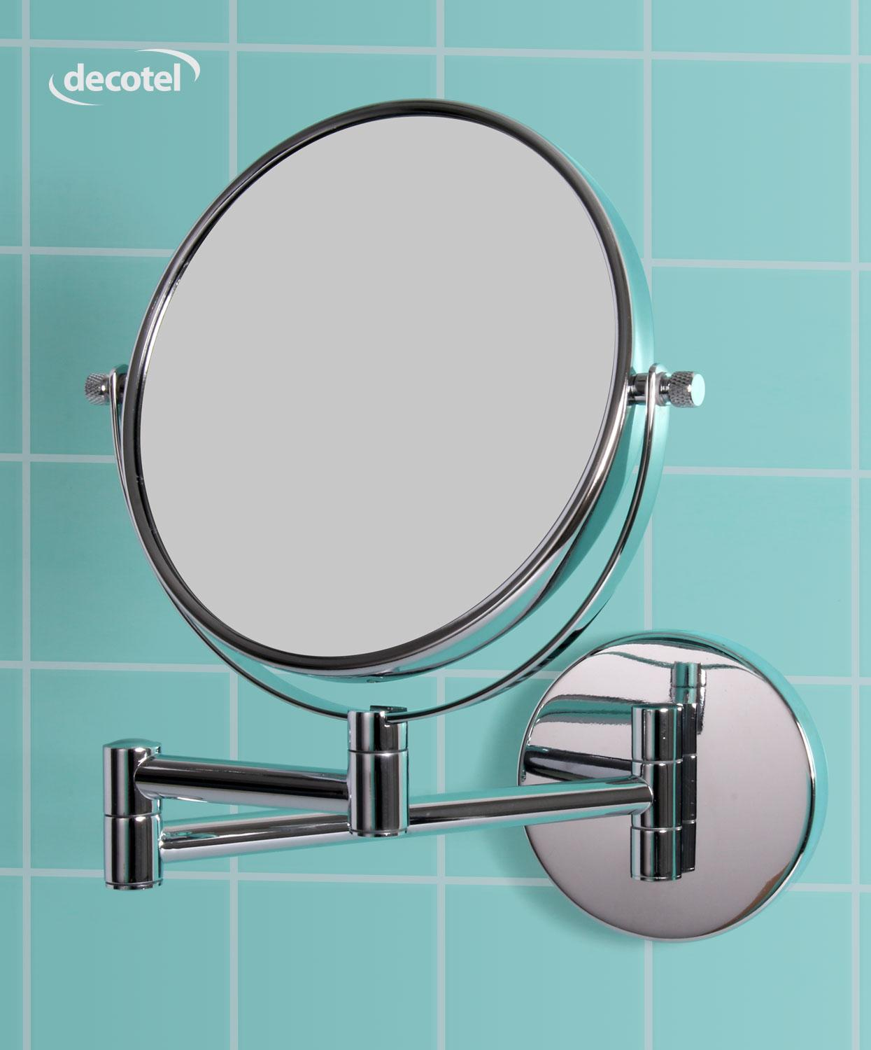 Decotel chrome bathroom mirror