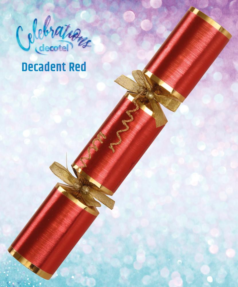 decadent red christmas cracker