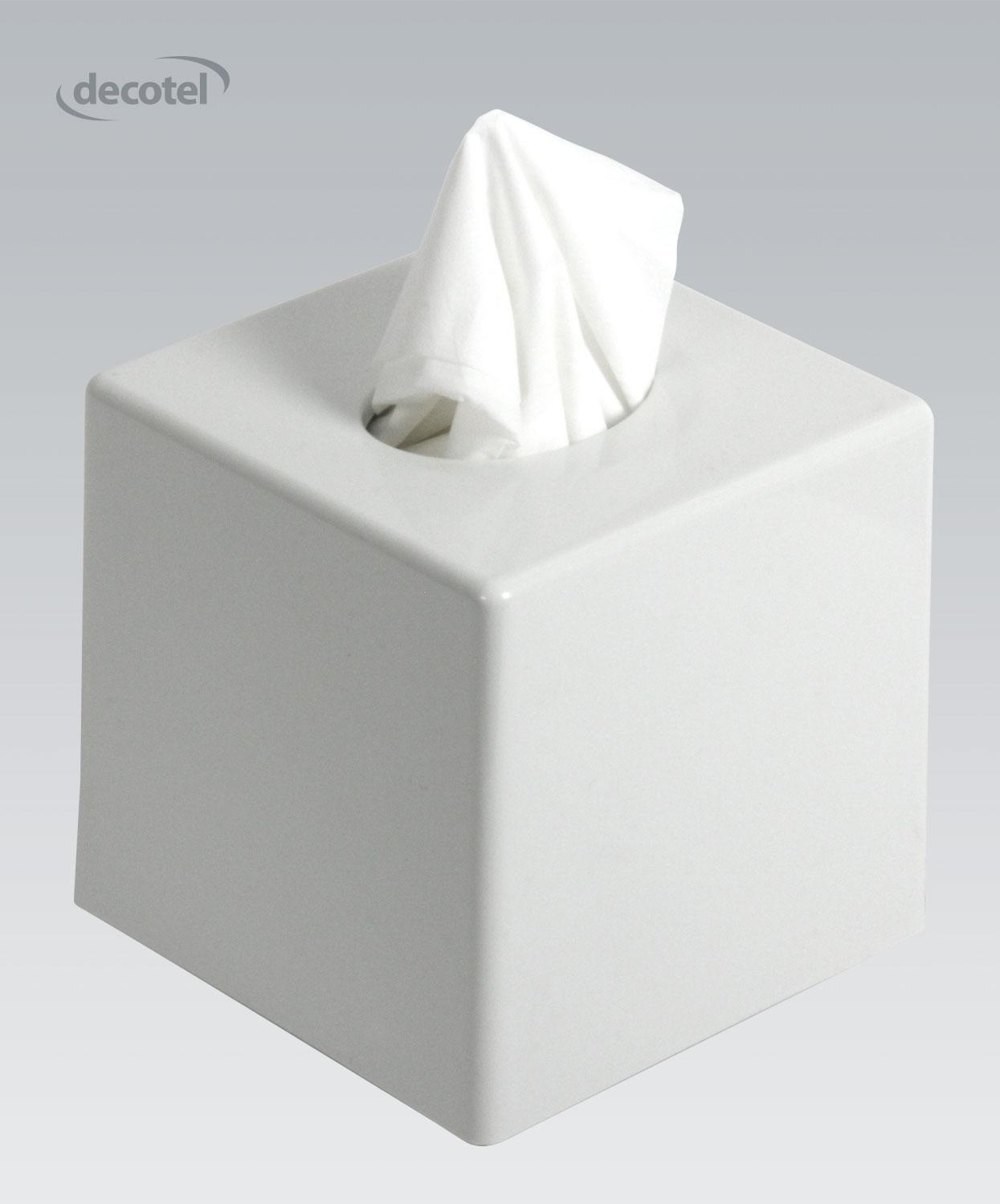 Cube Tissue Dispenser Gloss White