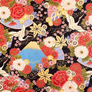 Colourful cotton Japanese fabric in the UK